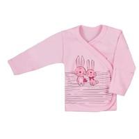 Baby overslag shirt - Bunnies - roze