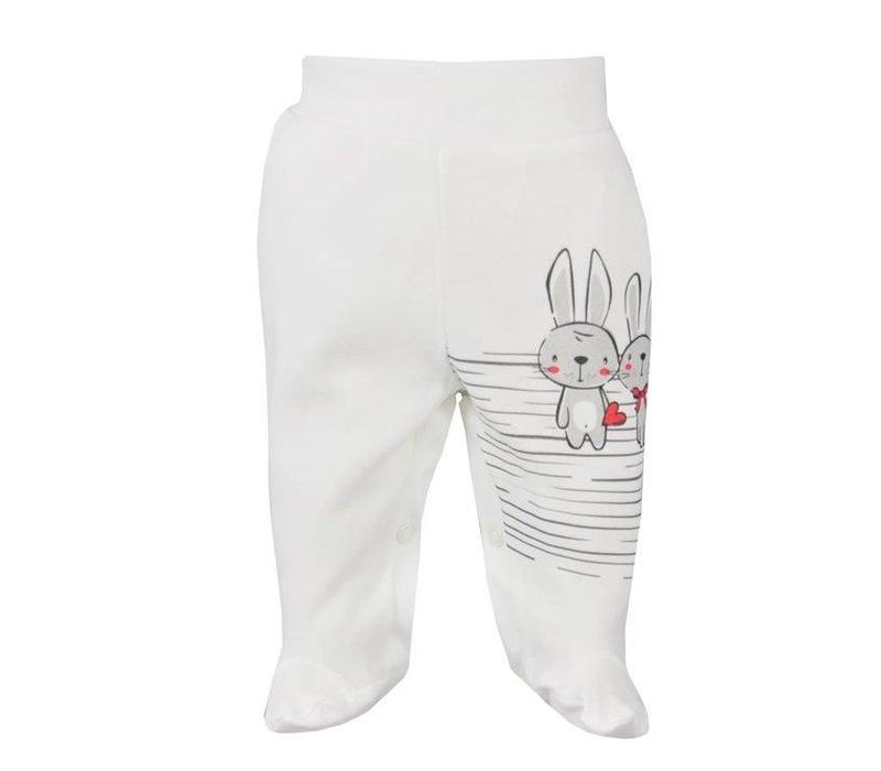 Baby broekje - Bunnies - ecru