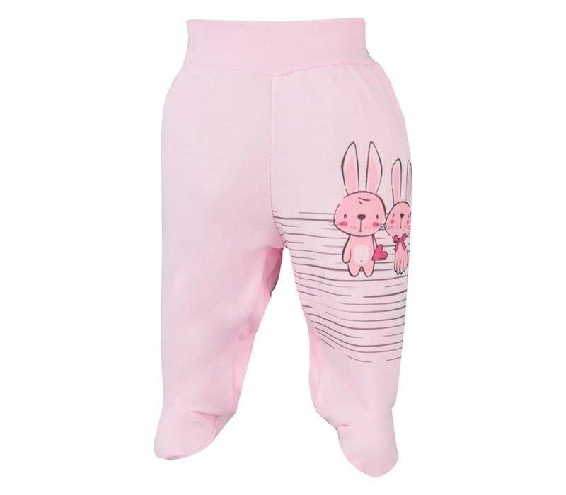 Baby broekje - Bunnies - roze