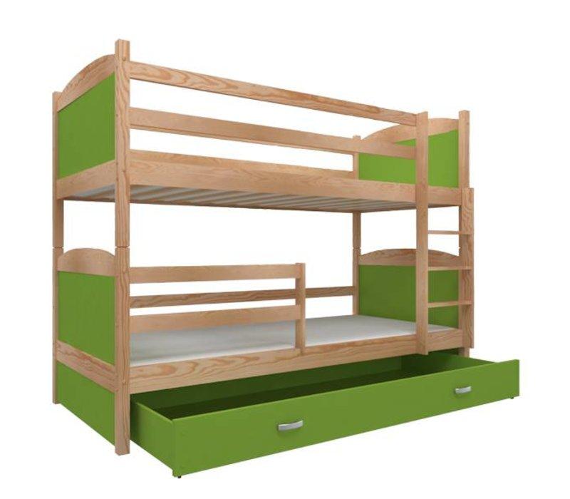 Stapelbed Michael - pine-groen