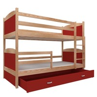 Stapelbed Michael - pine-rood