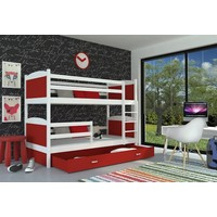 Stapelbed Michael - wit-rood