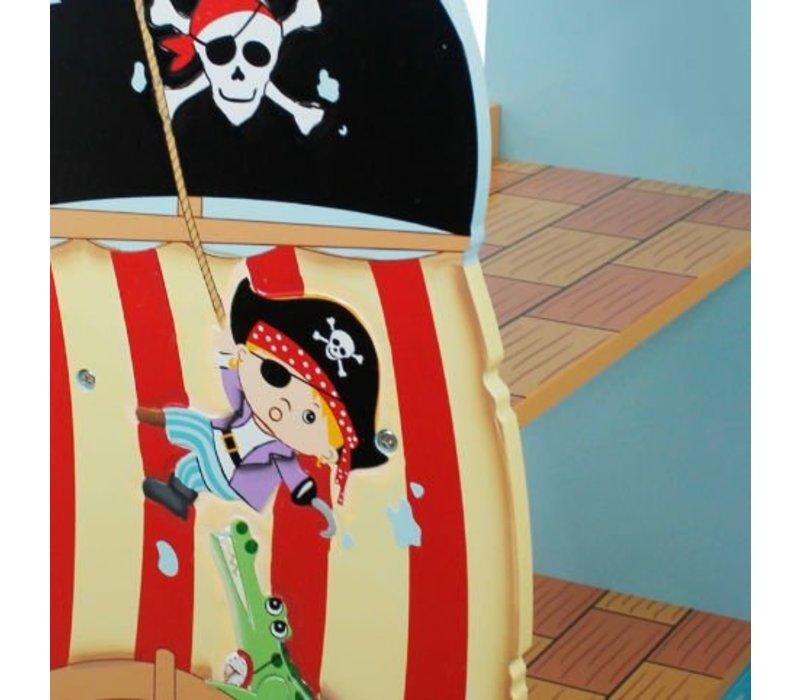 Houten  boekenkast - Piraten Eiland