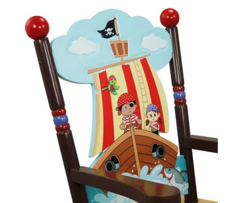 Houten kinderschommelstoel  - Piraten Eiland