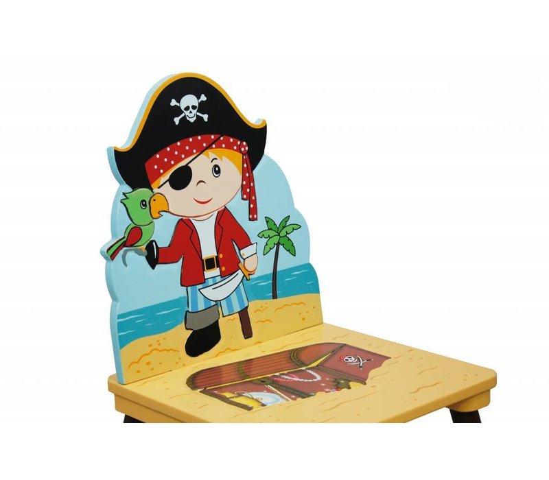2 Houten  stoeltjes - Piraten Eiland A