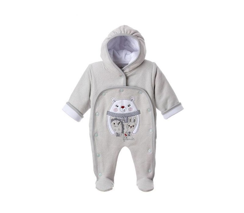 Warm baby pakje Bino - grijs
