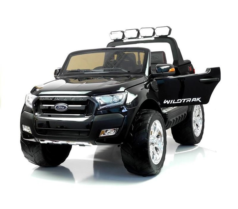Elektrische kinderauto 4x4 Drive Ford Ranger met 2 lederen stoelen, EVA-wielen, 2.4G RC, LCD-paneel