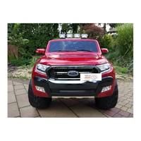 Elektrische kinderauto 4x4 Drive Ford Ranger met 2 lederen stoelen, EVA-wielen, 2.4G RC, LCD-paneel - rood