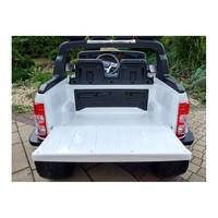 Elektrische kinderauto 4x4 Drive, 2 lederen stoelen, EVA Wheels, 2.4G RC, Radio Panel - wit