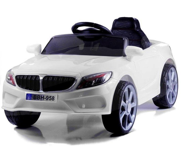 Elektrische kinderauto BBH968 wit