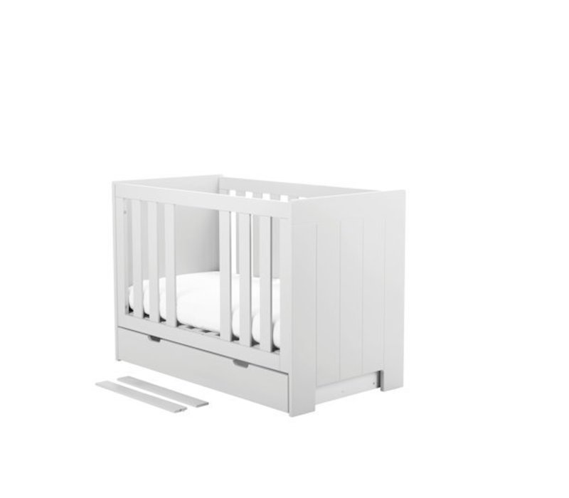 Baby ledikant Calmo 120 x 60 cm - wit