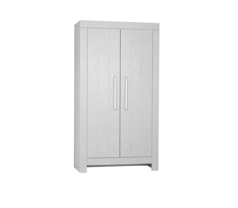 Calmo 2-deurs kledingkast - grijs