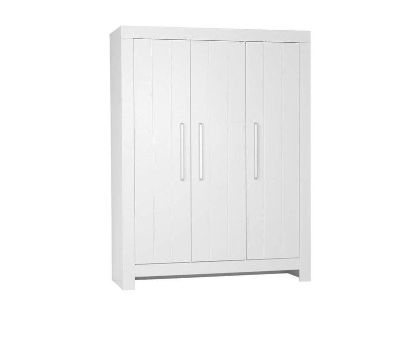 Calmo 3-deurs kledingkast - wit