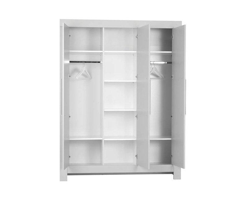 Calmo 3-deurs kledingkast - grijs