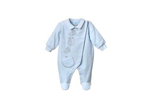 Velours baby pakje Bobo - blauw