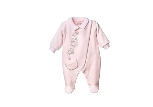 Velours baby pakje Bobo - roze