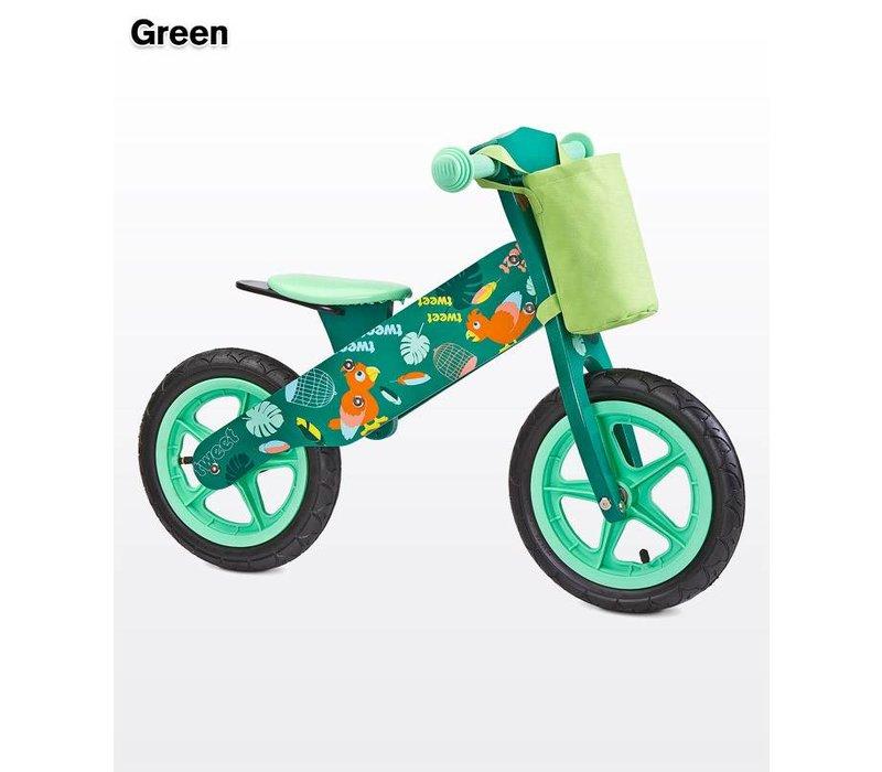 Houten loopfiets Zap - groen