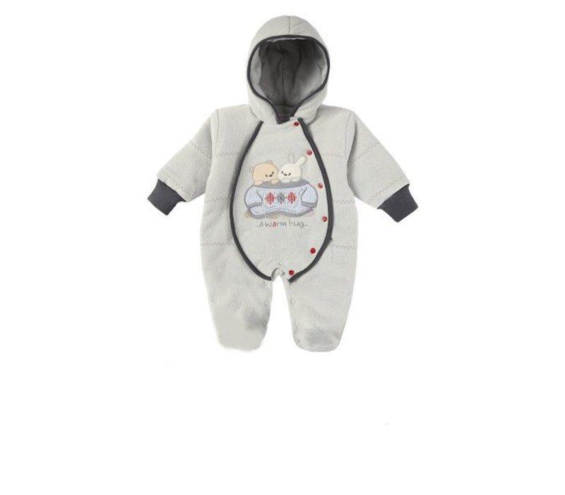 Baby winterpakje Bubu - licht grijs