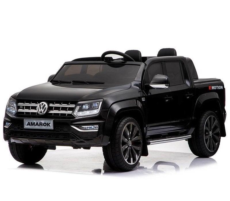 Elektrische kinderauto VW Amarok - zwart