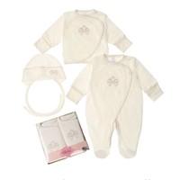 3-Delige babykleding geschenkset  - Bella - ecru