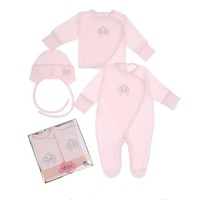 3-Delige babykleding geschenkset  - Bella - roze
