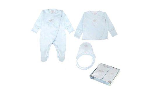 3-Delige babykleding geschenkset  - Oscar - blauw