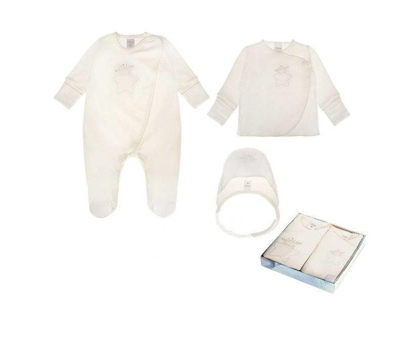 3-Delige babykleding geschenkset  - Oscar - ecru