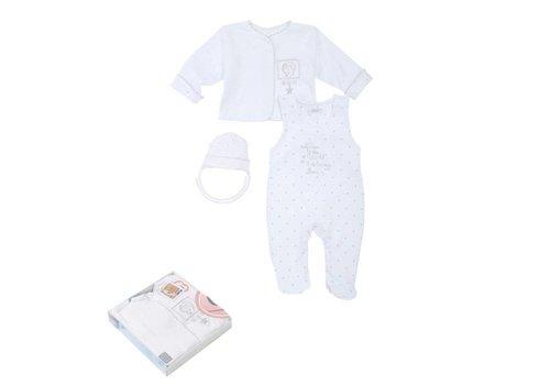 3-Delige babykleding geschenkset  - Gia - wit-ecru