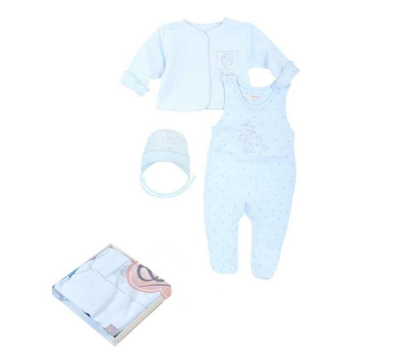 3-Delige babykleding geschenkset  - Gia - blauw