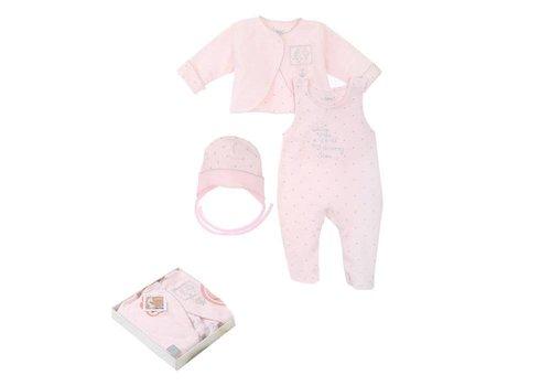 3-Delige babykleding geschenkset  - Gia - roze
