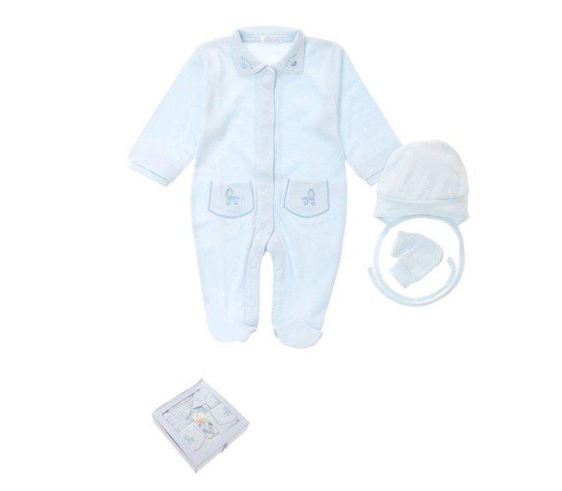3-Delige babykleding geschenkset  - Supreme - blauw