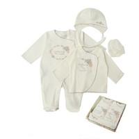 4-Delige babykleding geschenkset  - Amor - ecru
