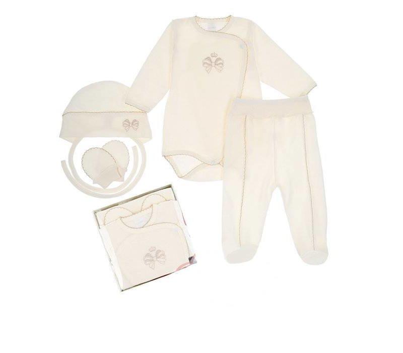 4-Delige babykleding geschenkset  - Bella - ecru
