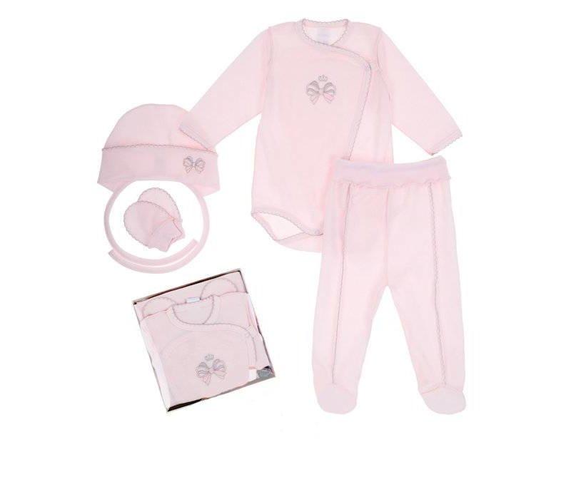 Roze Babykleding.4 Delige Babykleding Geschenkset Bella Roze Baby En Kinderwereld