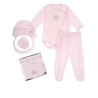 4-Delige babykleding geschenkset  - Bella - roze