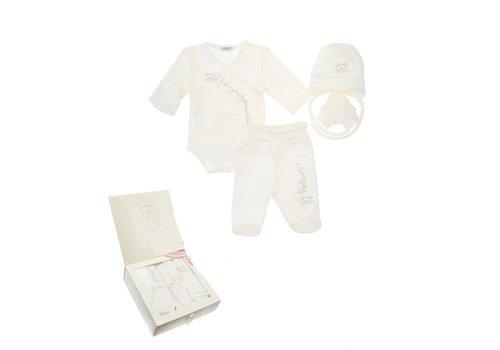 4-Delige babykleding geschenkset  - Berti - ecru