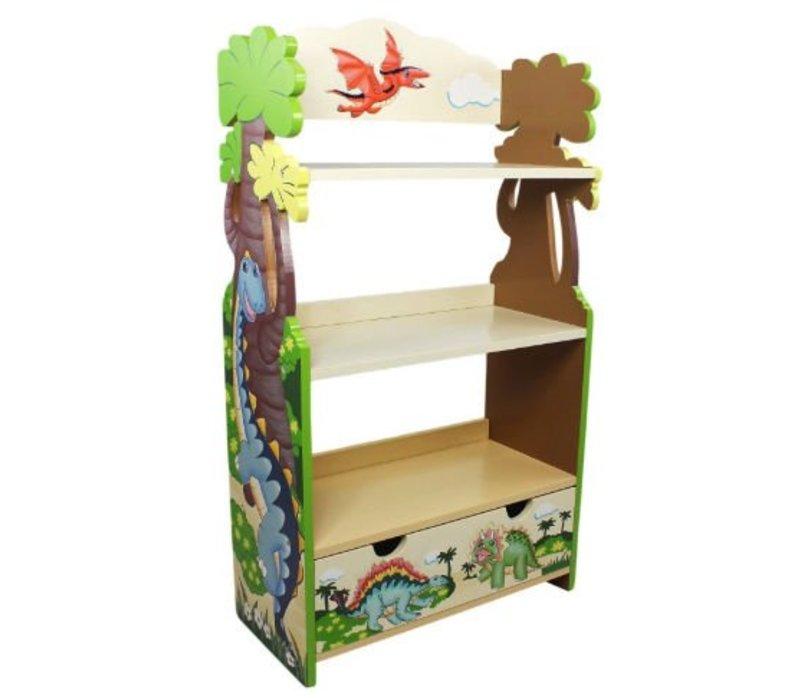 houten boekenkast dinosaurus koninkrijk