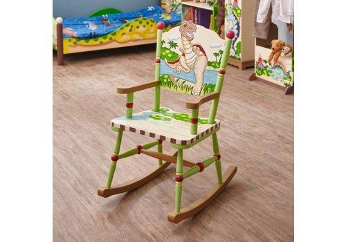 Houten kinderschommelstoel  - Dinosaurus Koninkrijk