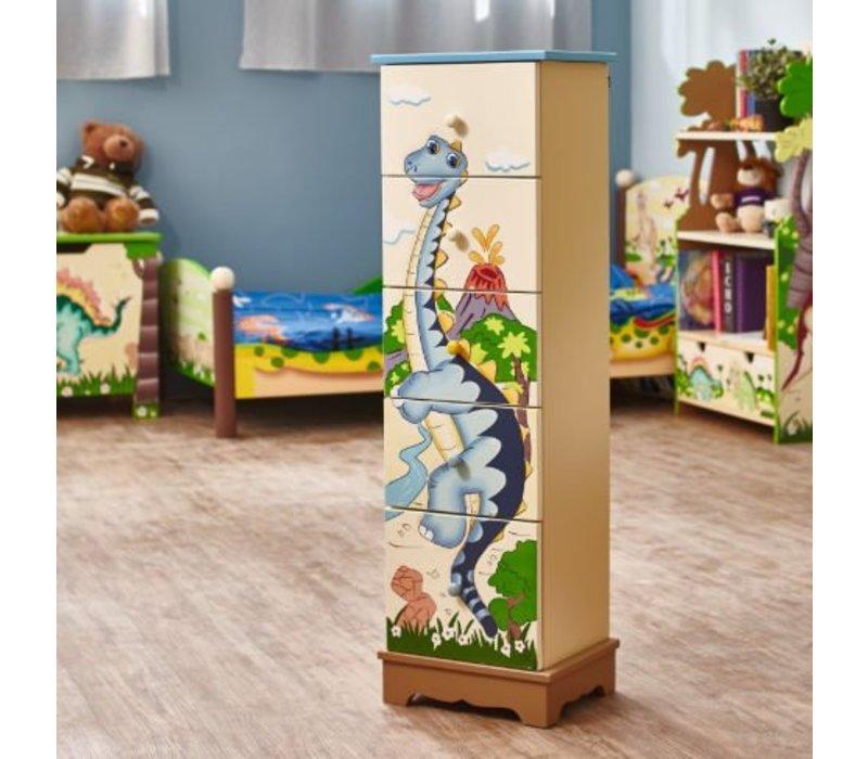 Houten ladekast  - Dinosaurus Koninkrijk