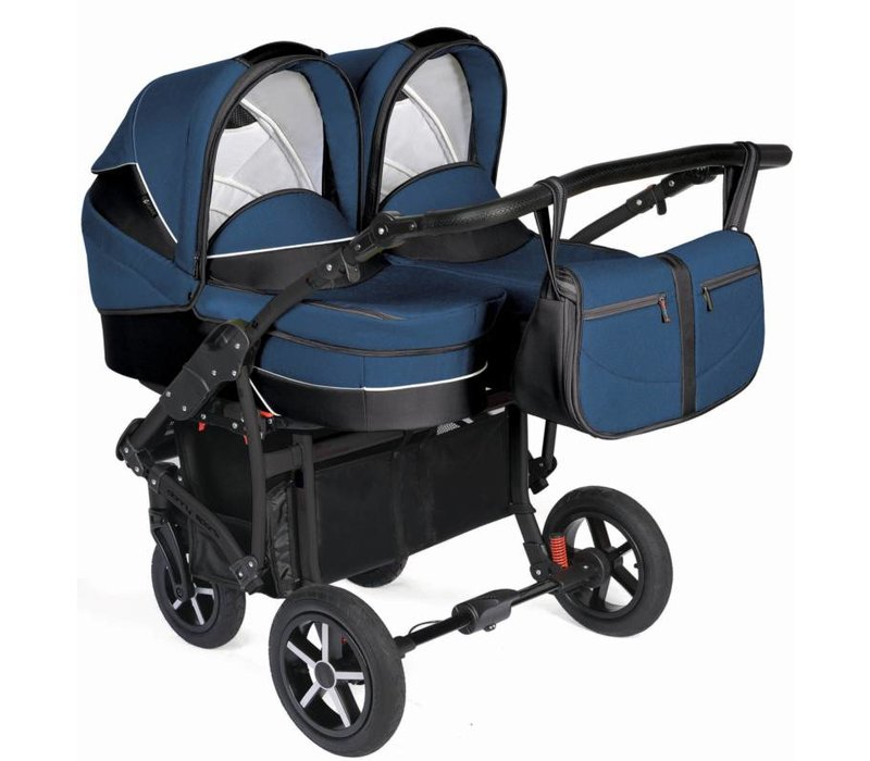 Tweeling kinderwagen Linen - 01