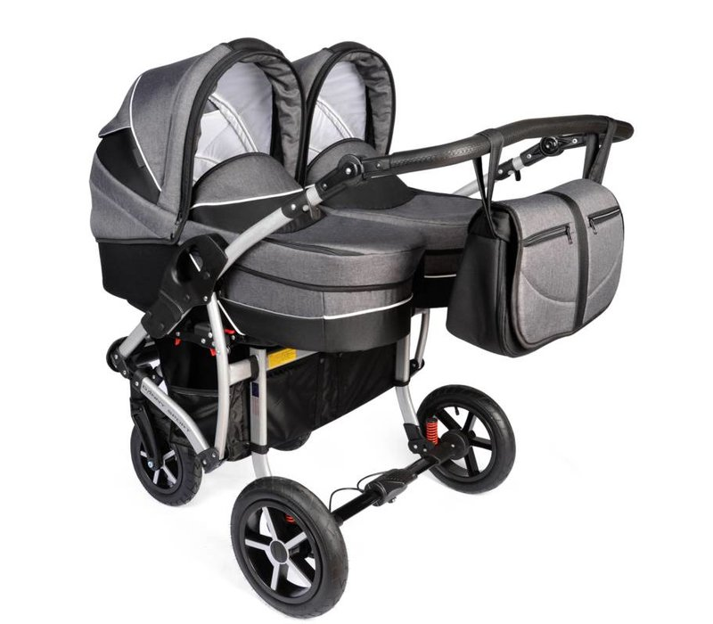 Tweeling kinderwagen Linen - 04