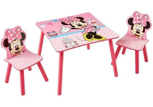 Disney Tafeltje + 2 stoeltjes - Minnie Mouse