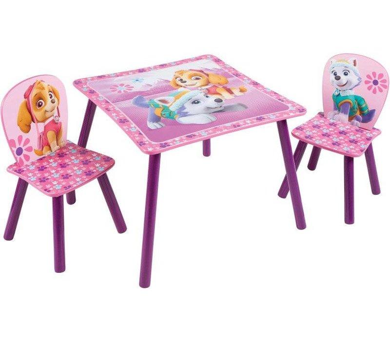 Disney Tafeltje + 2 stoeltjes - Paw Patrol - roze