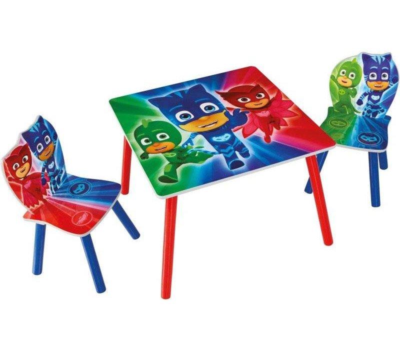 Disney Tafeltje + 2 stoeltjes - PJ Mask