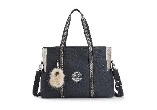 Luiertas - mommy bag - A-Night blue q black