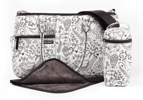 Luiertas - mommy bag - M-love black and white