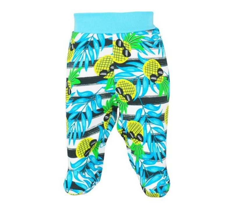 Baby Broekje met voetjes Tropical - ananas
