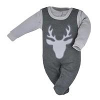 2-Delige babykledingset - Hertje - grijs