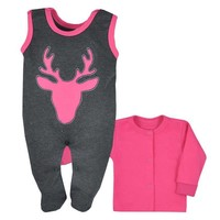 2-Delige babykledingset - Hertje - roze