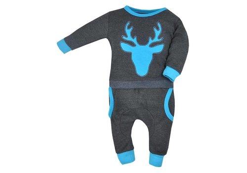 2-Delige babykledingset - Hertje - blauw